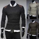 어깨에 의하여 덧대지는 남자의 뜨개질을 한 스웨터 스웨터 도매