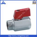 Un buen control de latón pulido mini válvula de bola (YD-1036)