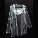 Couche de pluie en nylon du polyester léger imperméable à l'eau fait sur commande PVC/EVA de mode
