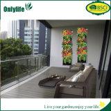 Materiale di riempimento verticale d'attaccatura personalizzato della piantatrice del giardino del patio del panno del feltro con i fiori e le erbe