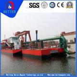 セリウムは17mの川または水処理または海上企業のための浚渫の深さのカッターの吸引の浚渫船を承認した