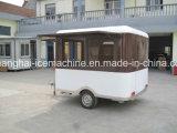 揚げられていたアイスクリーム機械屋外の移動式食糧トレーラーの通りの移動式食糧カートの中国の工場可動装置