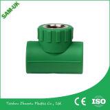Grünes PPR Plastikrohr der Großhandelsplastikdes verbindungsstück-PPR Befestigungs-90 Grad-Krümmer