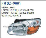 Misure cape automatiche della lampada dei pezzi di ricambio per KIA Cerato/Spetra 2007. OEM#92101-2f210/92102-2f210/92101-0s500/92102-0s500