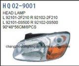 Auto-Hauptlampen-Sitze für KIA Cerato/Spetra 2007. OEM#92101-2f210/92102-2f210/92101-0s500/92102-0s500