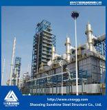 Estructura de acero con acero pesado para la industria química