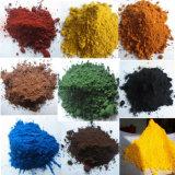 Het gele/Rode/Zwarte/Oranje/Blauwe/Bruine Oxyde van het Ijzer van China met Lage Prijs