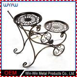 Mobilia del giardino della decorazione della casa del mestiere del metallo intorno al basamento di fiore della visualizzazione del metallo delle 2 file