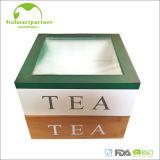 Rectángulo de bambú del té de la venta caliente con la bisagra
