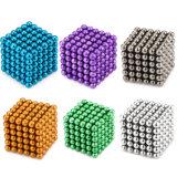 Imán creativo magnético de la bola del cubo del imán del neodimio de la hebra en 216 pila de discos