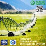 農業の農場の中心のピボット用水系統