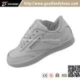Новый тип ягнится белые ботинки школы кожи вскользь ботинок ботинок конька 16044-1