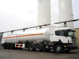 ASME를 가진 화학 Lox 린 Lar Lco2 LNG Fuel Tank Car Semi Trailer