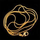 رجال نساء عقد أنيق أسلوب نوع ذهب لون صفّح ثعبان سلسلة