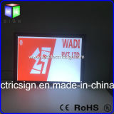 Placa acrílica do diodo emissor de luz do frame do poster da folha que anuncia o alumínio da caixa