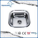 Aço inoxidável Praça Aquacubic Taça único pia de cozinha (ACS5044)