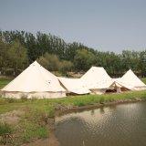 5m Beige impermeable al aire libre Camping lienzo de algodón Bell Tienda