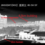 Fahrzeug-Auto Doppel-Fühler PTZ Sicherheits-Überwachung IR-Thermalkamera