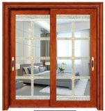 Portello scorrevole di alluminio esterno di vetro di arte per la villa