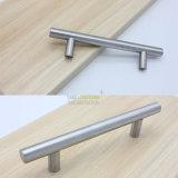 Escova de níquel escovada T Barra de gabinete de cozinha alça de puxar