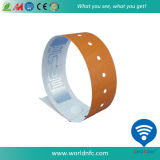 로고 Customize One Time Use Disposable Paper Soft PVC 13.56MHz Ntag213 RFID Nfc Wristband