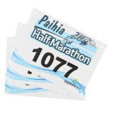 Anti-Rasgar los números personales de papel del babero de la gimnasia de Tyvek del maratón corriente