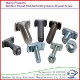 Bulloni ad alta resistenza del T-Head del acciaio al carbonio dell'acciaio dolce dell'acciaio inossidabile della vite con testa a T del bullone di Halfen