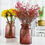 (As cores podem variar) vaso de vidro colorido de boca larga