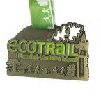 Medalha Running cortada do esmalte do logotipo com colhedor impresso transferência