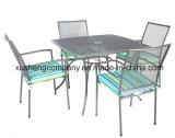 Moderno y muebles de exterior Steel juego de mesa y sillas