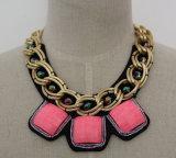 De Halsband van de Juwelen van de Legering van dame Fashion Zircon Costume Chunky Kraag (JE0019)