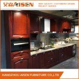 L'exportation à l'Amérique porte de cuisine des armoires de cuisine en bois massif de l'érable