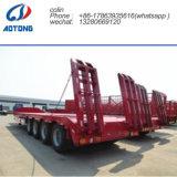 Transport-Vorderseite-Ladevorrichtungs-niedriger Bett-LKW-Schlussteil des Exkavator-50t für Verkauf