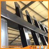 Cerca de alumínio de aço do metal da cerca de segurança da cerca da parte superior da lança