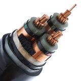 Fil d'acier moyen du faisceau 11kv 15kv 33kv Cu/XLPE/Swa/PVC du système mv 3 de tension blindé