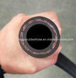 Manguito de goma de alta presión de la salida del petróleo de la trenza del hilado de Wp300psi