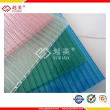 Matériau de construction pour la serre chaude de toiture de la feuille de plastique de polycarbonate