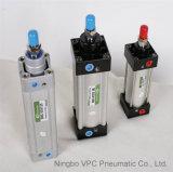Cylindre pneumatique d'air de cylindre du cylindre ISO6431 normal