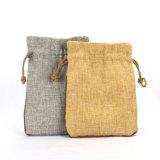 カスタム小さい結婚式のドローストリングのバーラップの袋のジュートの袋は安く卸し売りする(CJB1119)