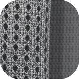 1668 un acoplamiento de calidad superior de la tela del punto del poliester