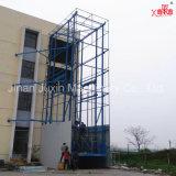 Chinan personalizado Venta caliente hidráulico pesado en la pared de carga vertical de la plataforma de elevación de mercancías de bajo costo
