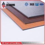 O produto novo gravou o painel de revestimento de alumínio do revestimento de madeira da série do toque