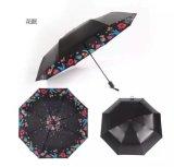 Modèle mini 5 fois annonçant le parapluie Pocket avec l'impression de logo