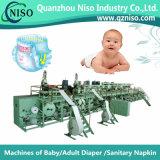 Rilievo ad alta velocità del pannolino del bambino che fa macchina con il PLC (YNK400-HSV)