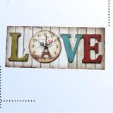 Античные Handmade деревянные квадратные часы для домашнего украшения