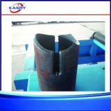 Cortadora del plasma del CNC de la sección de la depresión del perfil del tubo de acero de la dimensión de una variable con el cartabón 45 grados