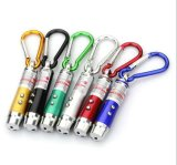 LED UV Light Keychain com Mountain Climing Gancho Laser Pointer LED Laser Light Keychain