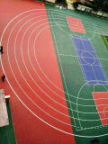 Hochwertige Sport-Bodenbelag-Fliese des Suge Sicherheitskreis-pp. für Basketballplatz des Fußball-/Futsa/