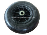 Capacidade pesado 4pr aro plástico roda ar de borracha pneumático
