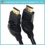 Hochgeschwindigkeitsgold überzog 1m 2m 3m 5m 2.0 4K 2160p HDMI Kabel eine 360 Grad-Umdrehung